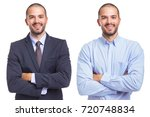 portrait of the same man in...   Shutterstock . vector #720748834