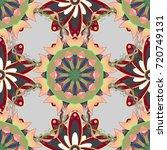 abstract ethnic vector seamless ... | Shutterstock .eps vector #720749131