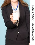 Small photo of Id card of office worker