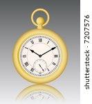 vintage gold watch | Shutterstock .eps vector #7207576