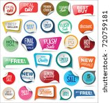 sale stickers and tags... | Shutterstock .eps vector #720759181