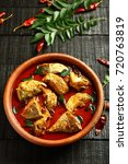 top view  kerala fish curry on... | Shutterstock . vector #720763819