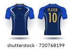 soccer jersey template.blue and ... | Shutterstock .eps vector #720768199