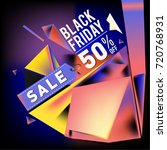 black friday sale poster. 3d... | Shutterstock .eps vector #720768931