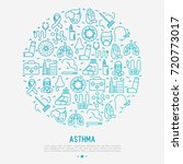 world asthma day concept in... | Shutterstock .eps vector #720773017