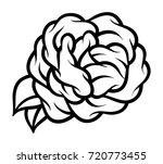 flower rose  black and white.... | Shutterstock .eps vector #720773455