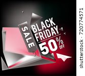 black friday sale poster. 3d... | Shutterstock .eps vector #720774571