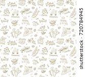 seamless vector pattern... | Shutterstock .eps vector #720784945