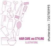 set of line equipments for... | Shutterstock .eps vector #720785995
