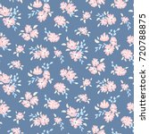 blue floral pattern. vector... | Shutterstock .eps vector #720788875