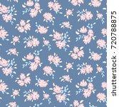 blue floral pattern. vector... | Shutterstock .eps vector #720788875
