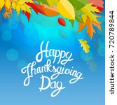 happy thanksgiving day... | Shutterstock .eps vector #720789844