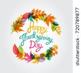 happy thanksgiving day... | Shutterstock .eps vector #720789877