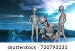 3d render of a science fiction... | Shutterstock . vector #720793231
