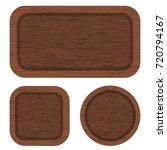 vector set of different brown... | Shutterstock .eps vector #720794167