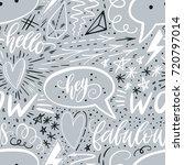 calligraphy hand lettering... | Shutterstock .eps vector #720797014