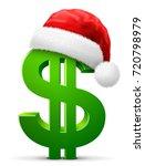 dollar symbol in red santa...   Shutterstock .eps vector #720798979