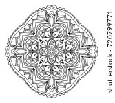 mandala. black and white... | Shutterstock . vector #720799771