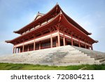 chinese temple architecture  | Shutterstock . vector #720804211