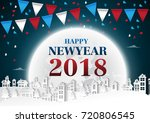 party happy new year 2018 on... | Shutterstock .eps vector #720806545