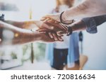 teamwork business concept.close ... | Shutterstock . vector #720816634
