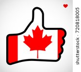 flag of canada in the shape of... | Shutterstock .eps vector #720818005