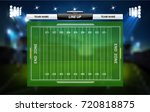 american football field with... | Shutterstock .eps vector #720818875