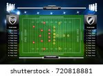 american football field with... | Shutterstock .eps vector #720818881
