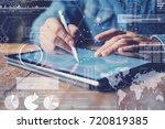 concept of virtual diagram... | Shutterstock . vector #720819385
