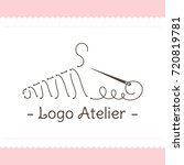 the logo atelier. vector... | Shutterstock .eps vector #720819781