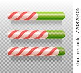 candy cane progress bars   Shutterstock .eps vector #720820405