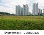condominium skyline with trees... | Shutterstock . vector #720820831