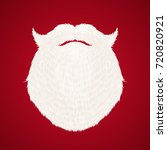 santa claus beard on red... | Shutterstock .eps vector #720820921