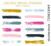 watercolor  ink or paint brush... | Shutterstock .eps vector #720823069