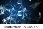 blue abstract technology ... | Shutterstock . vector #720823477
