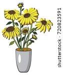 flower gerbera or sunflower on... | Shutterstock .eps vector #720823591