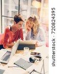 tow beautiful businesswomen... | Shutterstock . vector #720824395