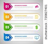 set of arrow infographic... | Shutterstock .eps vector #720827401