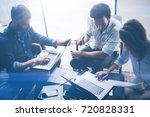 concept of presentation new...   Shutterstock . vector #720828331