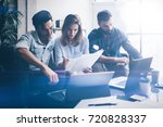 teamwork process concept.group... | Shutterstock . vector #720828337