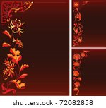 red backgrounds with floral...