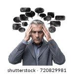 pensive stressed man having...   Shutterstock . vector #720829981