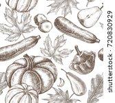 decorative seamless pattern... | Shutterstock .eps vector #720830929