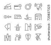 ticket machine line icon set 2. ... | Shutterstock .eps vector #720837325