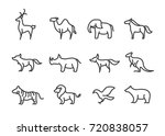 set of animal line icon | Shutterstock .eps vector #720838057