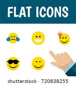 flat icon expression set of... | Shutterstock .eps vector #720838255