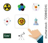 flat icon study set of... | Shutterstock .eps vector #720840241