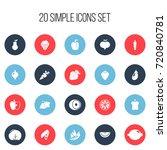set of 20 editable fruits icons....