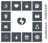 set of 13 editable love icons....