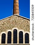 old architecture chimney | Shutterstock . vector #720845509